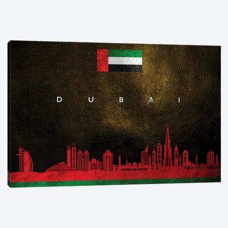 Dubai United Arab Emirates Skyline II Canvas Print #ABV205} by Adrian Baldovino Canvas Artwork