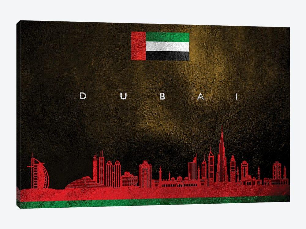 Dubai United Arab Emirates Skyline II by Adrian Baldovino 1-piece Canvas Wall Art