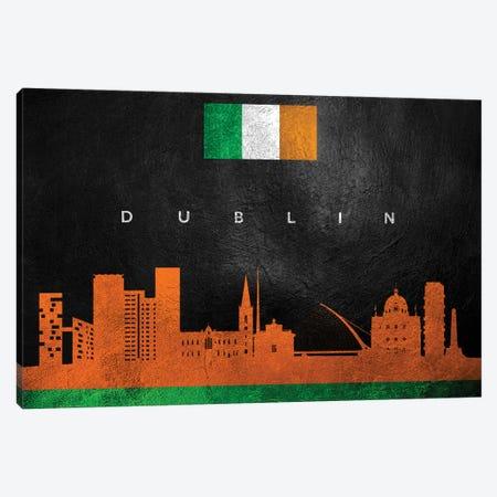 Dublin Ireland Skyline II Canvas Print #ABV206} by Adrian Baldovino Canvas Artwork