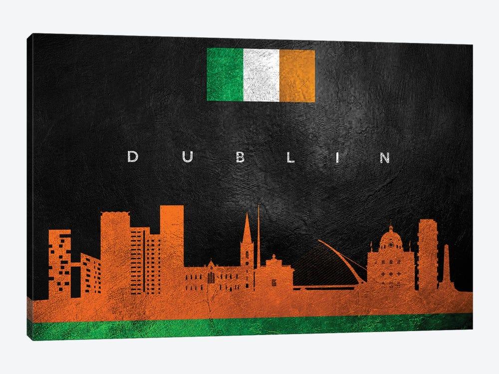 Dublin Ireland Skyline II by Adrian Baldovino 1-piece Art Print