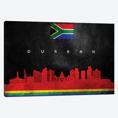Durban South Africa Skyline Canvas Print #ABV207} by Adrian Baldovino Canvas Wall Art