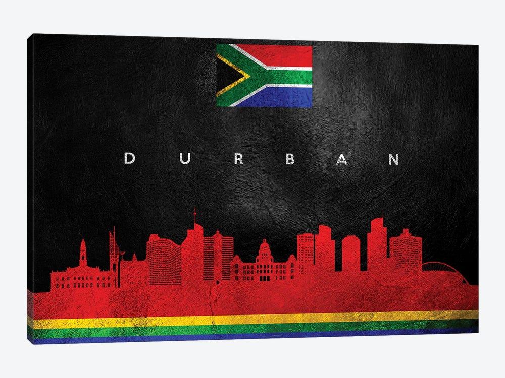 Durban South Africa Skyline by Adrian Baldovino 1-piece Canvas Art