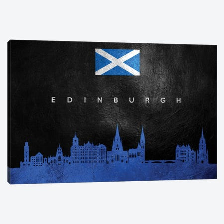 Edinburgh Scotland Skyline Canvas Print #ABV208} by Adrian Baldovino Canvas Art Print