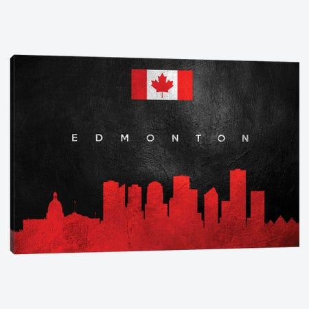 Edmonton Canada Skyline Canvas Print #ABV209} by Adrian Baldovino Canvas Print