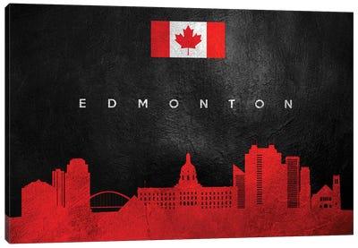 Edmonton Canada Skyline II Canvas Art Print