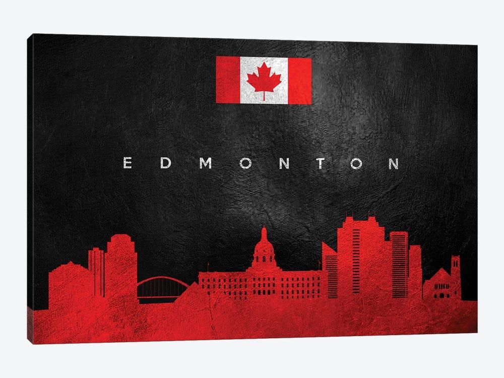 Edmonton Canada Skyline II by Adrian Baldovino 1-piece Canvas Artwork