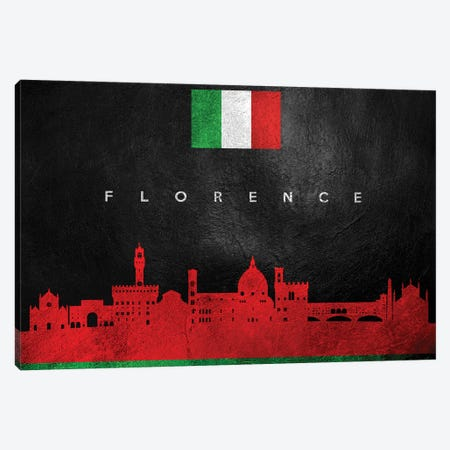 Florence Italy Skyline Canvas Print #ABV211} by Adrian Baldovino Canvas Wall Art