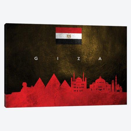 Giza Egypt Skyline Canvas Print #ABV213} by Adrian Baldovino Canvas Artwork