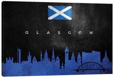 Glasgow Scotland Skyline II Canvas Art Print