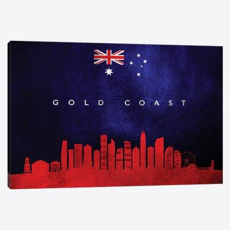 Gold Coast Australia Skyline Canvas Print #ABV216} by Adrian Baldovino Canvas Print