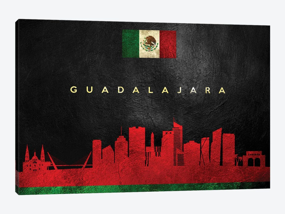 Guadalajara Mexico Skyline by Adrian Baldovino 1-piece Canvas Print