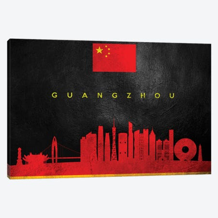 Guangzhou China Skyline Canvas Print #ABV218} by Adrian Baldovino Canvas Artwork
