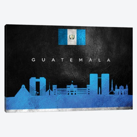 Guatemala Skyline Canvas Print #ABV219} by Adrian Baldovino Canvas Wall Art