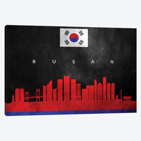 Busan South Korea Skyline Canvas Print #ABV21} by Adrian Baldovino Canvas Art