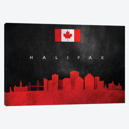 Halifax Canada Skyline II Canvas Print #ABV221} by Adrian Baldovino Canvas Print