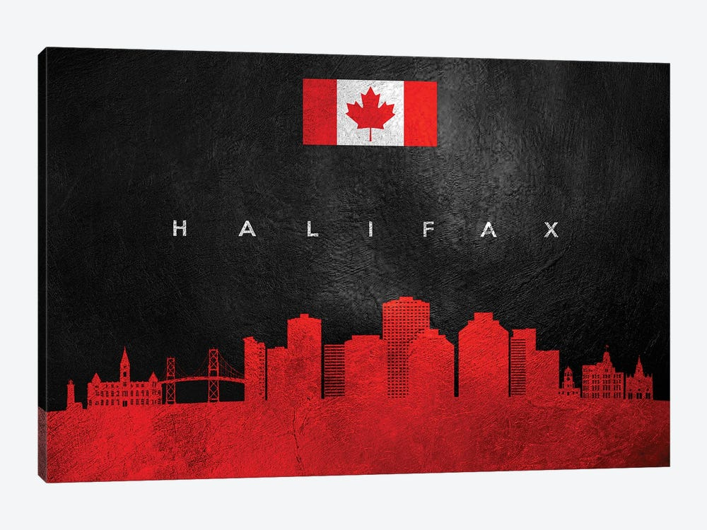 Halifax Canada Skyline II by Adrian Baldovino 1-piece Canvas Wall Art
