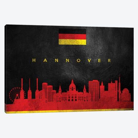 Hanover Germany Skyline Canvas Print #ABV222} by Adrian Baldovino Canvas Art Print