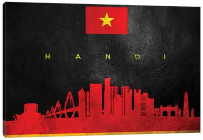Hanoi Vietnam Skyline Canvas Art Print