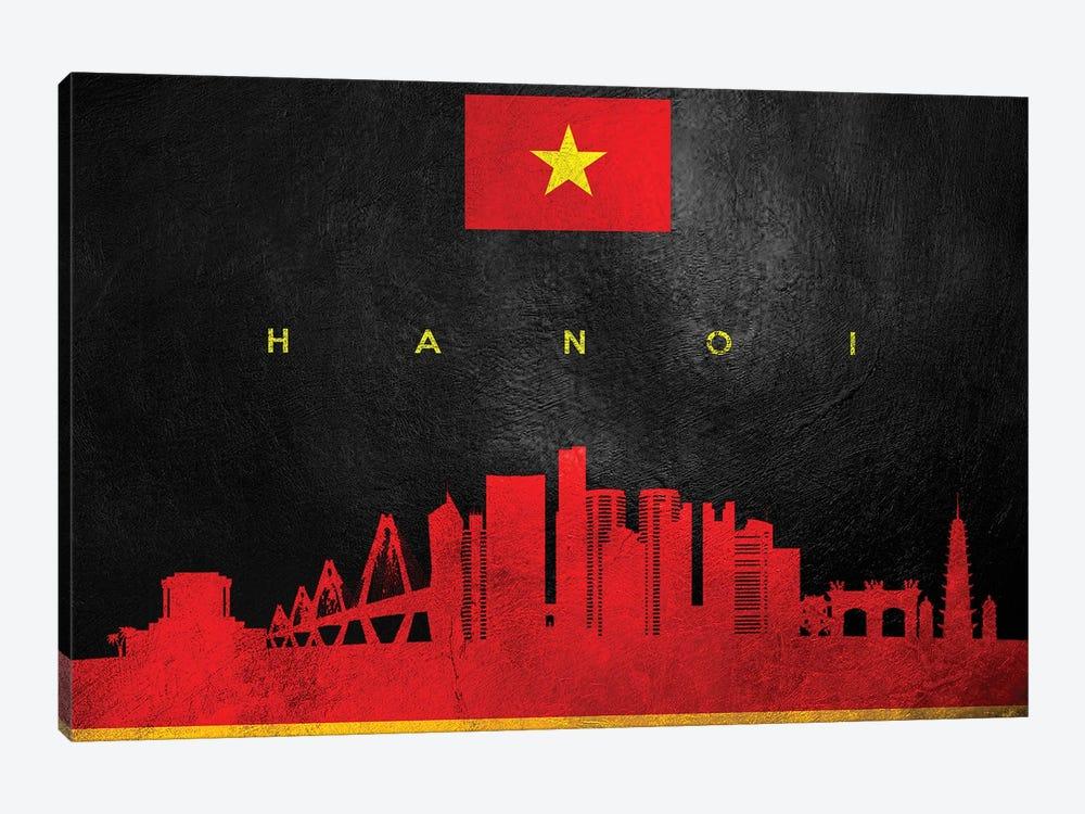 Hanoi Vietnam Skyline by Adrian Baldovino 1-piece Canvas Art
