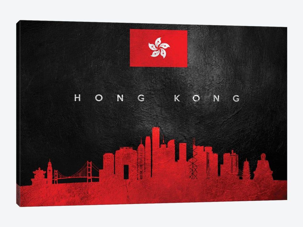 Hong Kong Skyline by Adrian Baldovino 1-piece Art Print