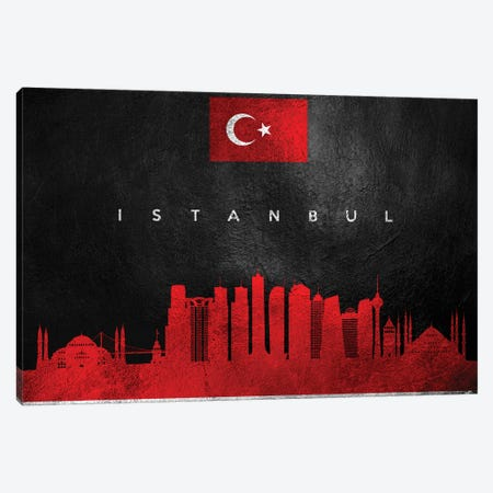 Istanbul Turkey Skyline Canvas Print #ABV227} by Adrian Baldovino Canvas Artwork