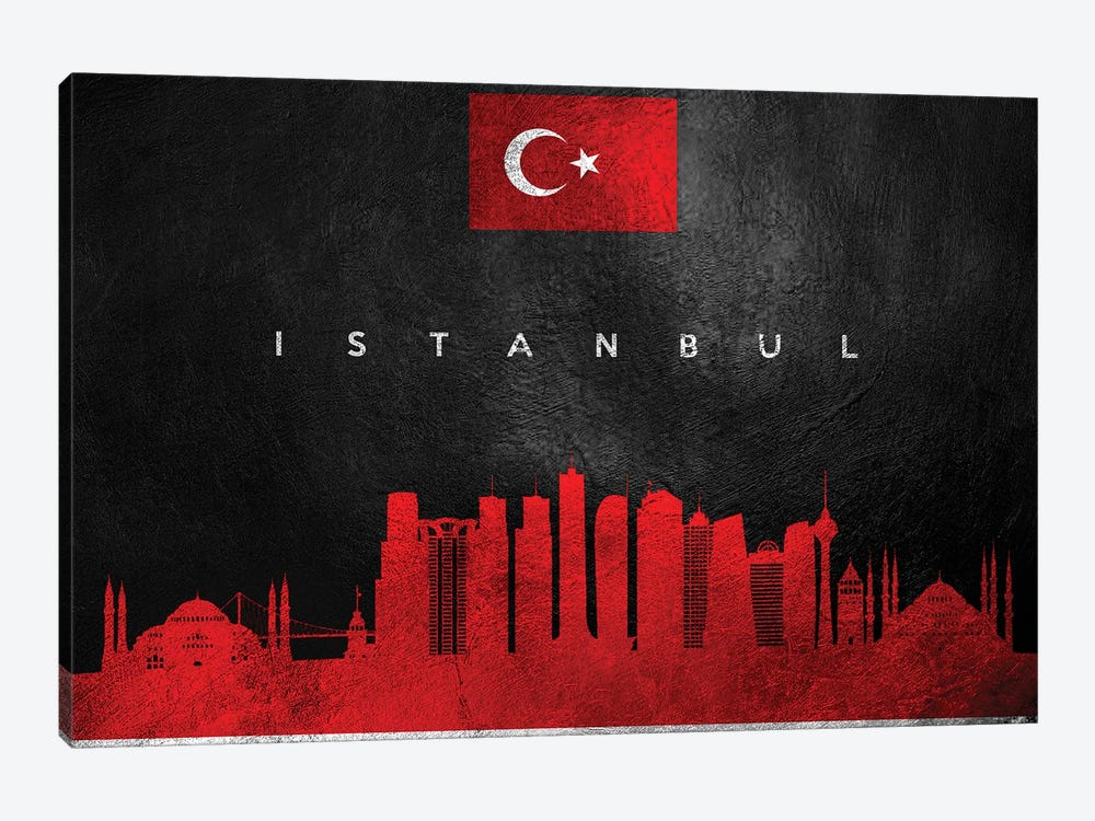 Istanbul Turkey Skyline by Adrian Baldovino 1-piece Canvas Artwork