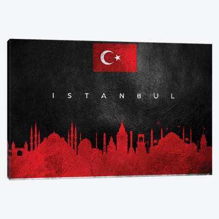 Istanbul Turkey Skyline II Canvas Print #ABV228} by Adrian Baldovino Art Print
