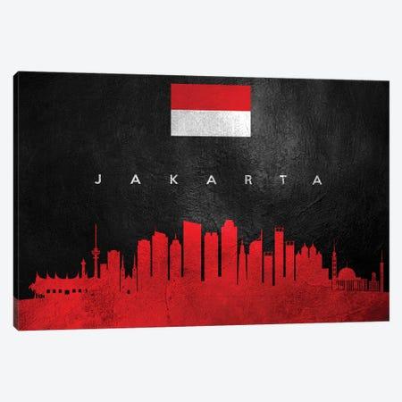 Jakarta Indonesia Skyline II Canvas Print #ABV230} by Adrian Baldovino Canvas Artwork
