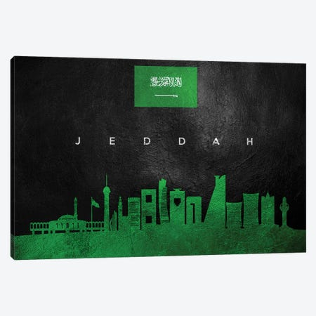 Jeddah Saudi Arabia Skyline Canvas Print #ABV231} by Adrian Baldovino Canvas Artwork