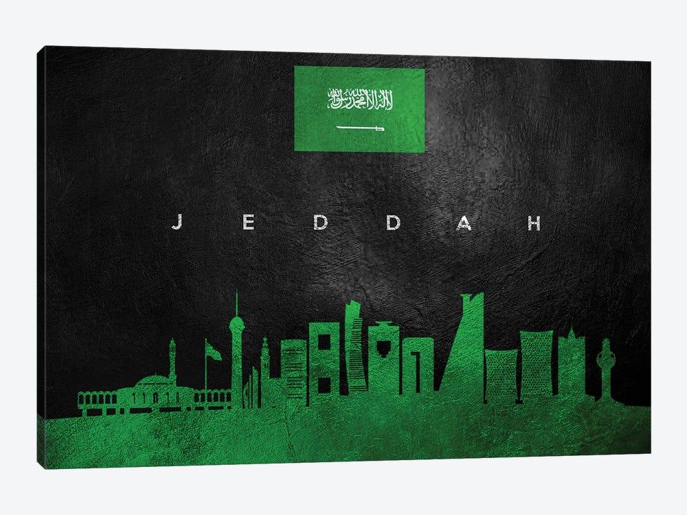 Jeddah Saudi Arabia Skyline by Adrian Baldovino 1-piece Art Print