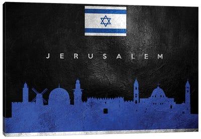 Jerusalem Israel Skyline Canvas Art Print