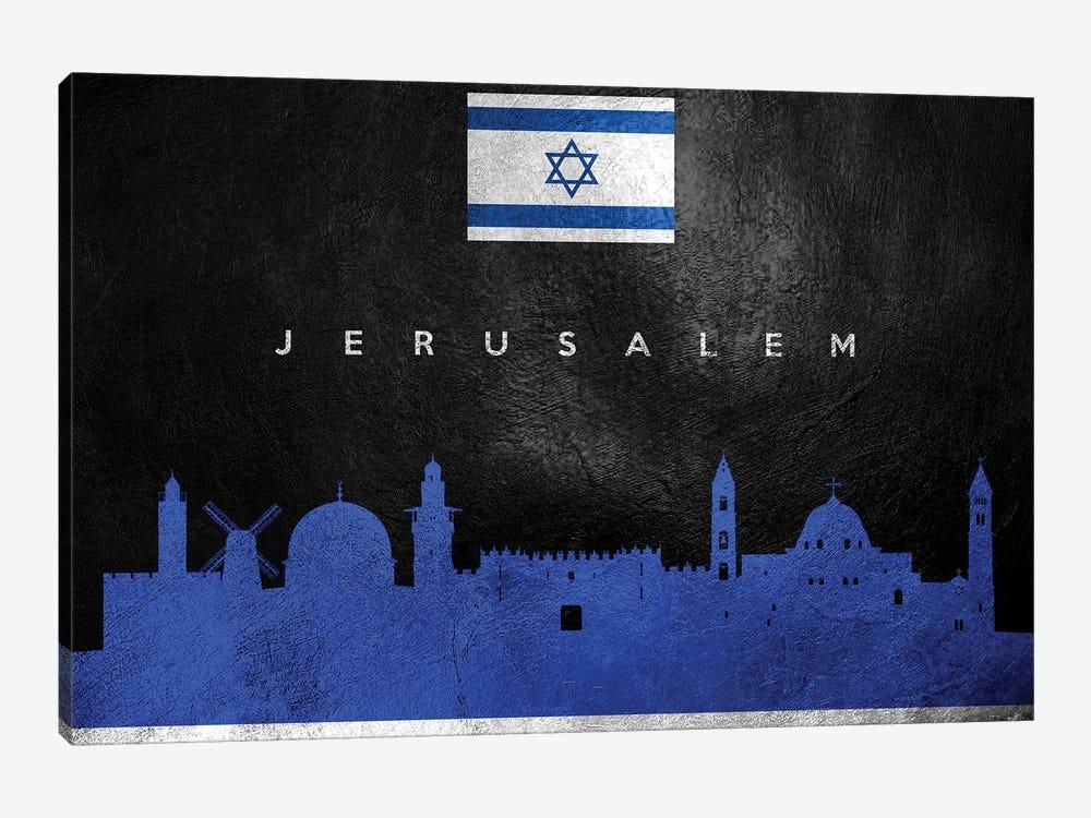 Jerusalem Israel Skyline by Adrian Baldovino 1-piece Canvas Artwork