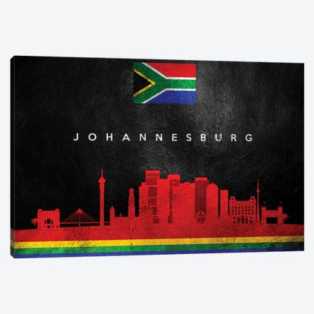Johannesburg South Africa Skyline Canvas Print #ABV233} by Adrian Baldovino Canvas Wall Art