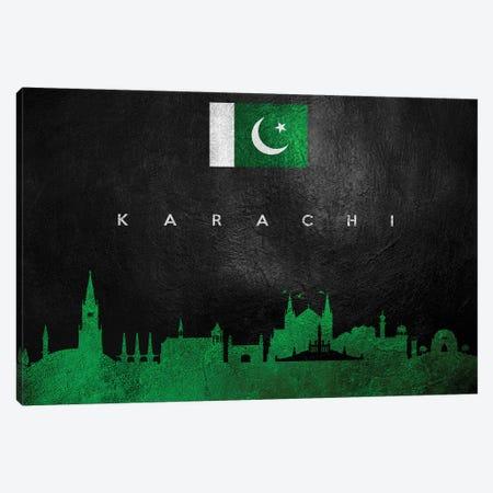 Karachi Pakistan Skyline Canvas Print #ABV234} by Adrian Baldovino Art Print