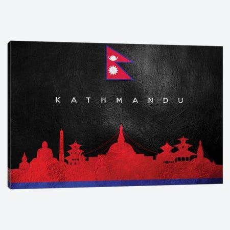 Kathmandu Nepal Skyline Canvas Print #ABV235} by Adrian Baldovino Canvas Art Print