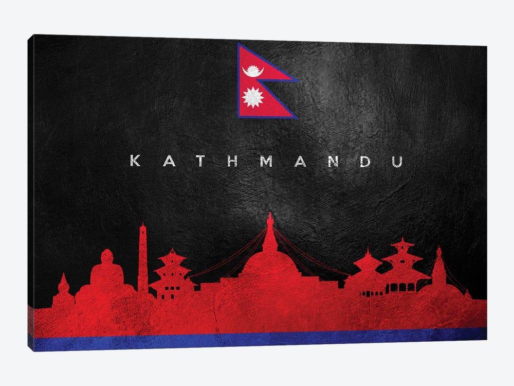 Kathmandu Nepal Skyline by Adrian Baldovino 1-piece Canvas Print