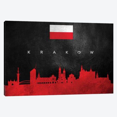 Krakow Poland Skyline Canvas Print #ABV238} by Adrian Baldovino Canvas Artwork