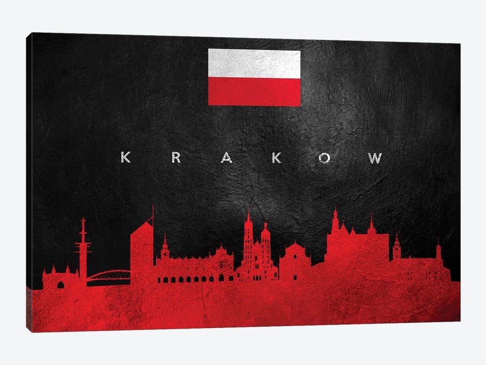 Krakow Poland Skyline by Adrian Baldovino 1-piece Canvas Artwork