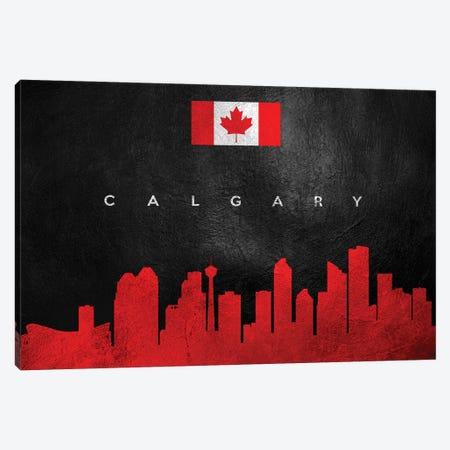 Calgary Canada Skyline Canvas Print #ABV23} by Adrian Baldovino Canvas Artwork