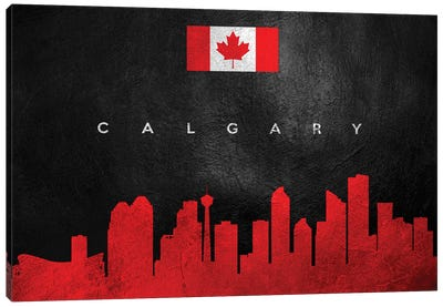 Calgary Canada Skyline Canvas Art Print