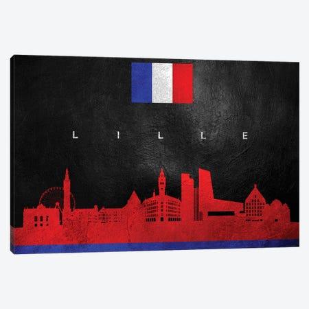 Lille France Skyline Canvas Print #ABV244} by Adrian Baldovino Canvas Art