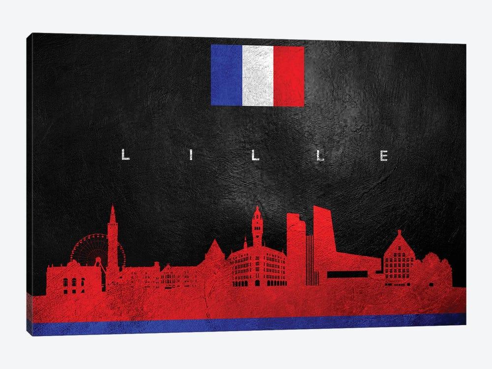 Lille France Skyline by Adrian Baldovino 1-piece Canvas Art Print