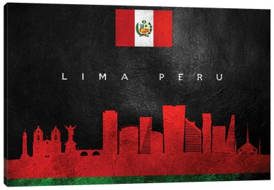 Lima Peru Skyline Canvas Art Print