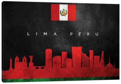 Lima Peru Skyline Canvas Art Print
