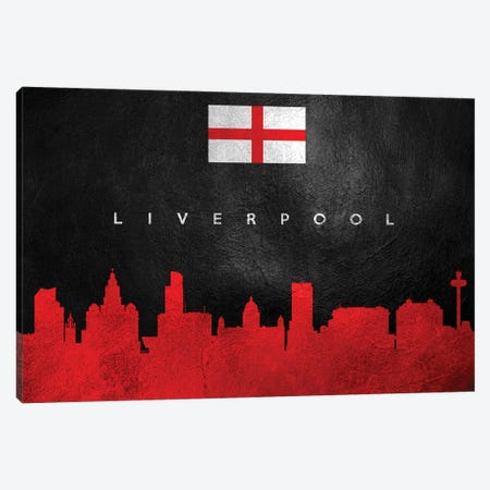 Liverpool England Skyline Canvas Print #ABV246} by Adrian Baldovino Canvas Wall Art