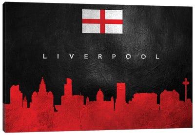 Liverpool England Skyline Canvas Art Print