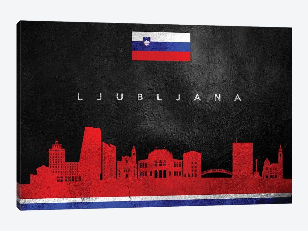 Ljubljana Slovenia Skyline by Adrian Baldovino 1-piece Canvas Wall Art