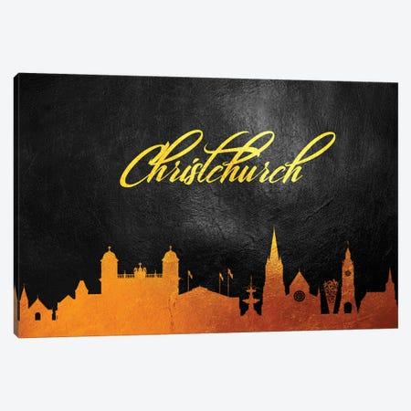 Christchurch New Zealand Gold Skyline Canvas Print #ABV24} by Adrian Baldovino Canvas Print
