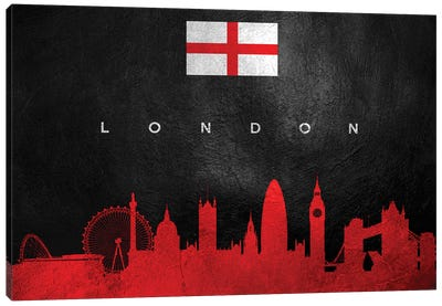 London England Skyline II Canvas Art Print