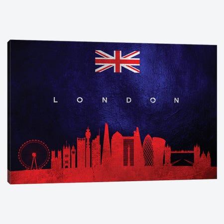 London United Kingdom Skyline Canvas Print #ABV251} by Adrian Baldovino Canvas Wall Art